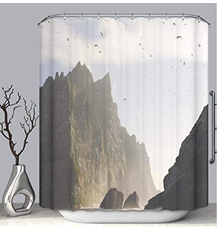 Amazon BEICICI Color Shower Curtain Liner Anti Mildew Antibacterial St Kilda UK Custom Bathtub Bathroom Accessories 60Wx72Linch Home