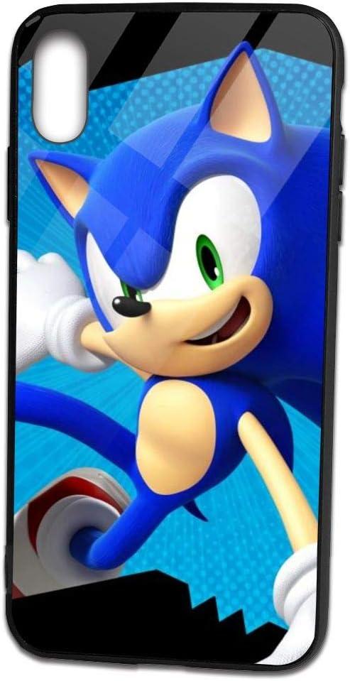 Amazon Com Angela R Mathews Sonic The Hedgehog Unique Anime Phone Case For Apple Iphone Xs Max Tpu Glass Phone Case Home Kitchen