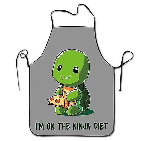 Zhengzho Tortuga en una Dieta Ninja Delantal para cocinar ...
