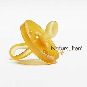 Natursutten Original - Chupete ecológico de goma natural con tetina ortodóntica, de 0 a 6 meses