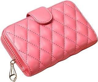 Wallet Slim Pour Wallet Femmes court Sheepskin Mesdames Zipper, Rose Blancho Bedding