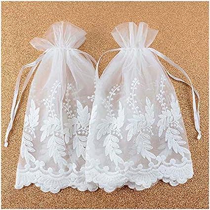 b8e9b183a3f8 Amazon.com: VU100 Organza Lace Bags with Double Drawstring,Elegant ...