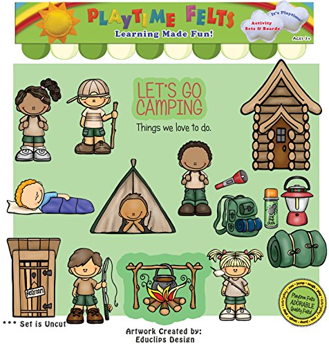 Let's Go Camping Felt Set for Play Boards