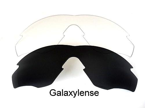 Galaxy Lentes De Repuesto Para Oakley M2 Frame negro y transparente Polarizados