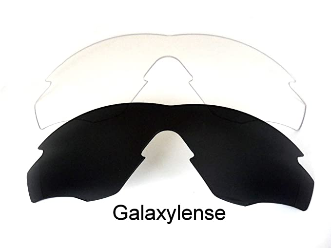 24a11063e9 Amazon.com  Galaxy Replacement Lenses For Oakley M2 Frame Black Clear  Polarized  Clothing