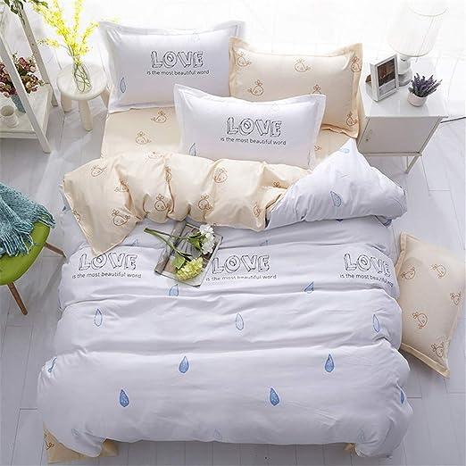 Cama de Cuatro Piezas, Elegantes Textiles para el hogar, sábanas ...