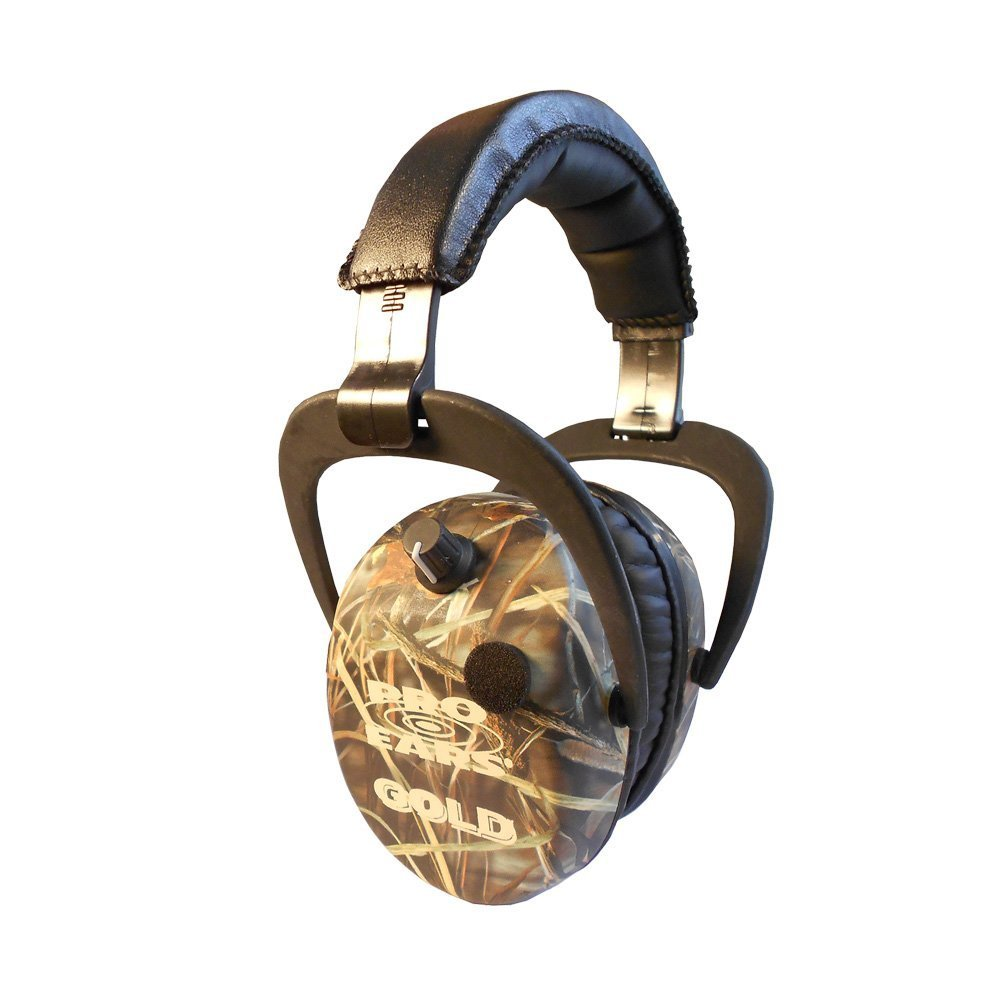 Pro Ears - Stalker Gold - Electronic Hearing Protection and Amplification Earmuffs - NRR 25 - CM4 Camo by Pro Ears