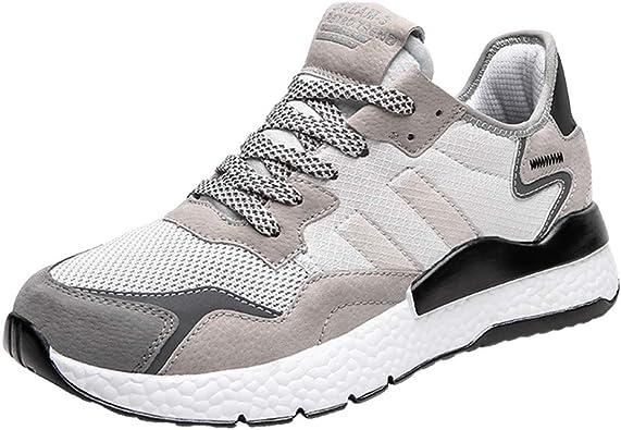 Rounyy Las Zapatillas de Deporte Transpirables y Ligeras de los Hombres de Tipo y de Camino, para Correr y Caminar, Color Dorado, Talla 46 EU: Amazon.es: Zapatos y complementos