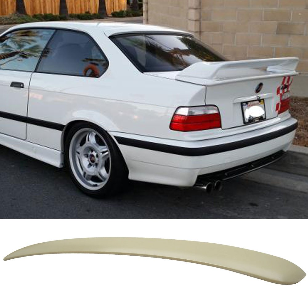 Roof Spoiler Fits 1992-1998 BMW 3 Series E36 2D   AC Style Unpainted ABS Rear Trunk Tail Spoiler Wing by IKON MOTORSPORTS   1993 1994 1995 1996 1997