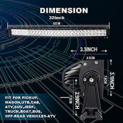 TURBOSII DOT 32/30 Inch Curved Led Light Bar Offro