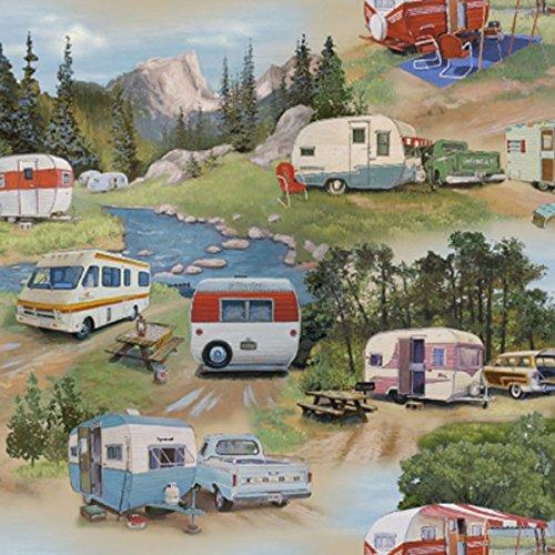 vintage trailer fabric - 5