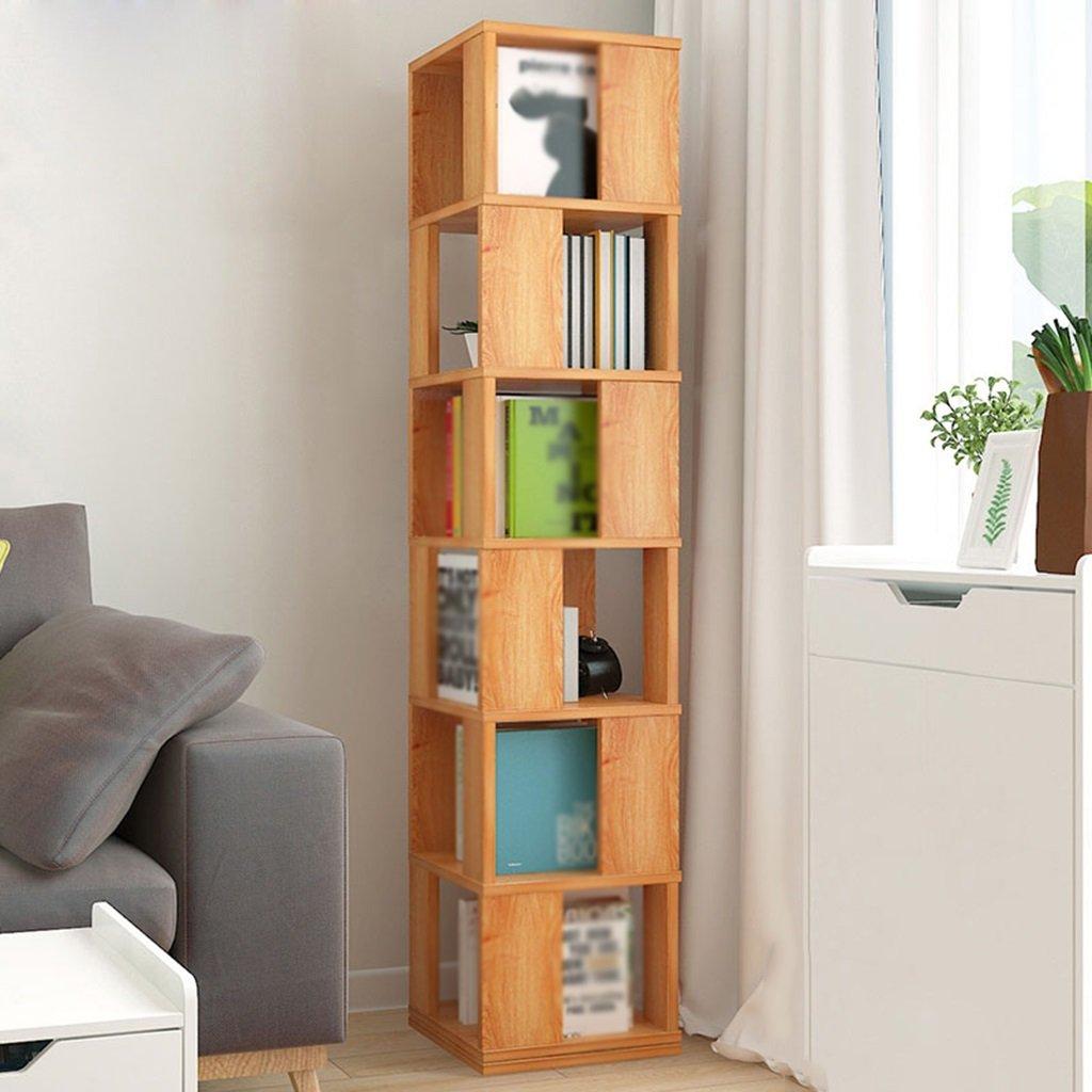 オープンシェルフラック 6つのレイヤー360°回転可能な本棚フロアティングシェルフ本棚子供用書棚学生居間スタジオロッカー多機能 ホーム (色 : B) B0787TQDLN B