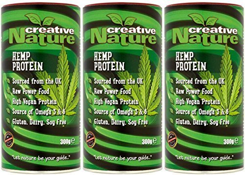(3 PACK) - Creative Nature - British Hemp Protein Powder | 300g | 3 PACK BUNDLE by Creative Nature by CREATIVE NATURE