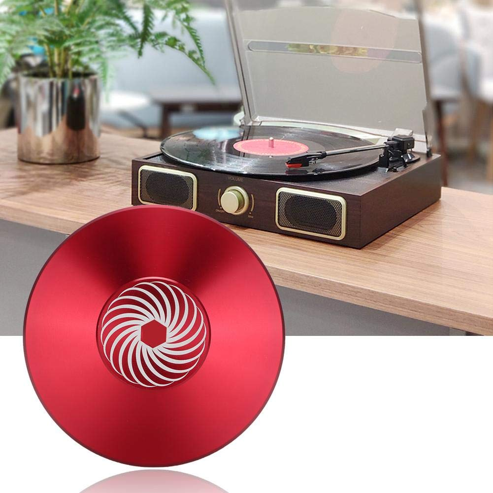 Red Vinyl Record Clamp Audio Disc Turntable Aluminum Record Player Weight LP Disc Stabilizer Vibration Reducer