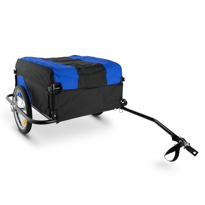 Mountee Remolque de carga para bicicletas desmontable (capacidad 130l, carga peso 60kg, bastidor