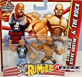 STONE COLD STEVE AUSTIN & THE ROCK - WWE RUMBLERS TOY WRESTLING ACTION FIGURES