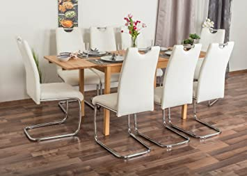 Inkl8 Set Wooden Ausziehbar 249 Nature Stühleweiß Esstisch XZuOkPi