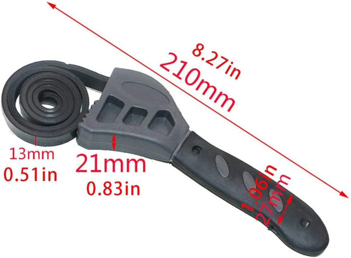 Universal Wrench Adjustable Bottle Opener Rubber Belt Wrench Can Opener Kitchen Tool Auto Repair Filter Hand Tools