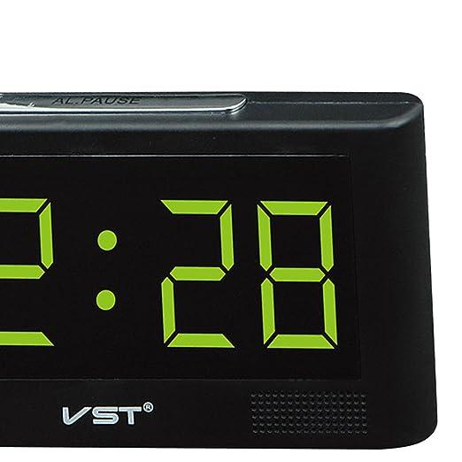 Homyl LED Reloj Digital de Pared Escriotorio Mesa con 2inchs Pantalla Grande - Enchufe UE - Amarillo: Amazon.es: Hogar