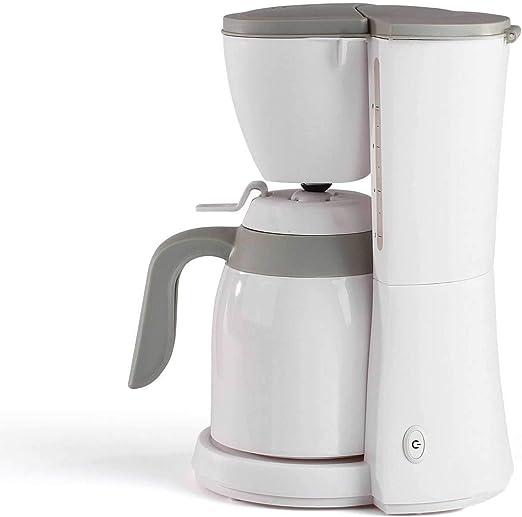 Cafetera con termo blanco para 12 tazas, jarra térmica (cafetera, filtro de café, apagado automático, indicador de nivel de agua): Amazon.es: Hogar
