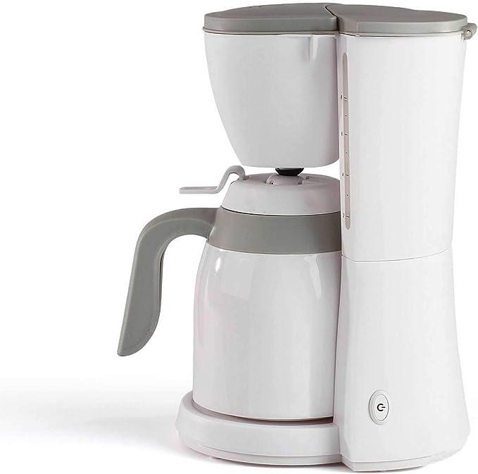 Cafetera con termo blanco para 12 tazas, jarra térmica (cafetera ...