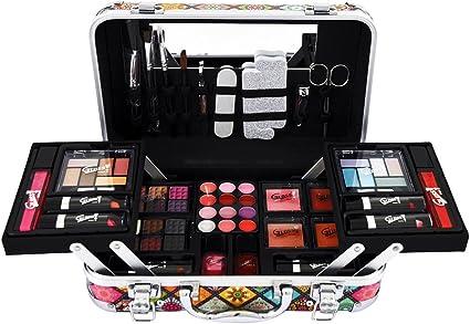 Gloss - caja de maquillaje, caja de regalo para mujeres - ¡ Set de regalo - Set de maquillaje - Estuche gráfico para maquillaje - 50 piezas: Amazon.es: Belleza