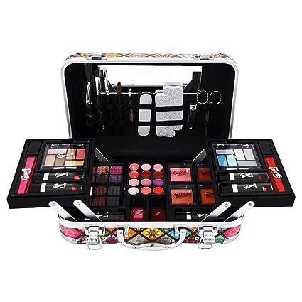 Gloss - caja de maquillaje, caja de regalo para mujeres - ¡ Set de regalo - Set de maquillaje - Estuche gráfico para maquillaje - 50 piezas