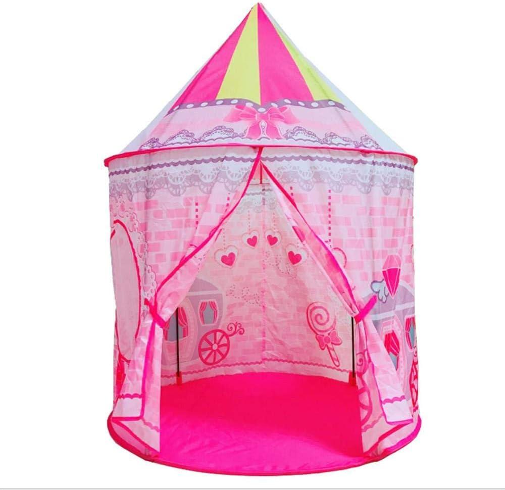 Castillo de Juguete Dingcaiyi Tienda de campa/ña de Princesa para ni/ños Tienda de campa/ña para Uso en Interiores y Exteriores Tienda de campa/ña para Juegos Rosa Teatro Grande para ni/ñas
