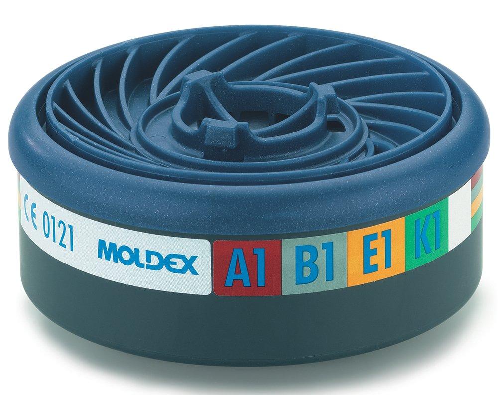 Moldex 9400 Gas filter A1B1E1K1 para seria 7000+9000 EasyLock, 2 unidades