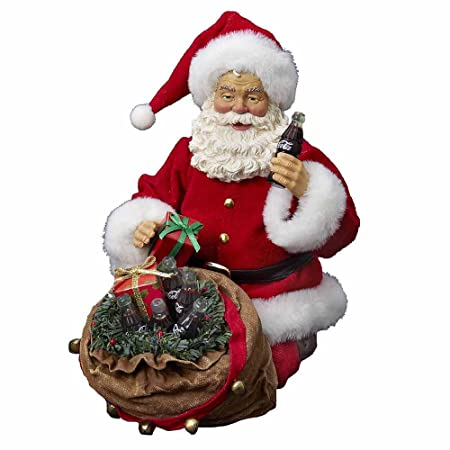 Coca-Cola Kurt Adler Fabriche Santa with Bag Figurine, 11-Inch