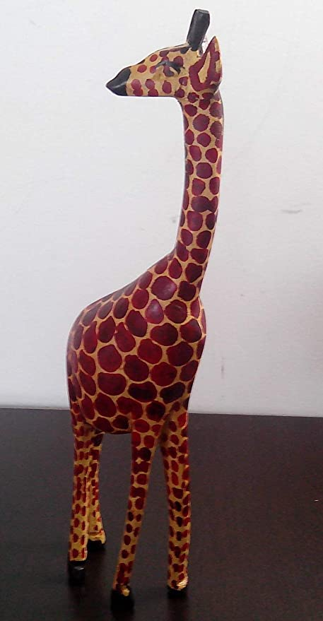 Four Feet Tall Wood Carved Giraffe Delivery In About 8 Days.