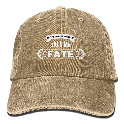 PYH0kox My Favorite People Call Me Fate Hat Snap-Back Hip-Hop Cap Baseball Hat Head-Wear Cotton Snapback Hats Natural