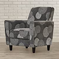 Accent Arm Chair For Your Living Room - This Contemporary Armchair Is Perfect Addition And Decor For Your Home - Soft Comfortable Seat And Nice Pattern (Charcoal)