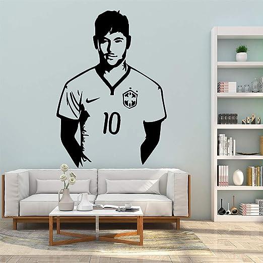 zxddzl Hot Football Star Messi Pegatinas de Pared de Vinilo ...