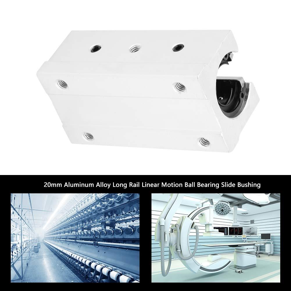 1Pcs 20mm SBR20LUU Support de Guidage Lin/éaire SBR20LUU Glissi/ère de Roulement Ouverte /À Billes Support de Guidage Darbre de Rail Lin/éaire