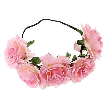 Party Krone Stirnband Rosen-Blumen-Haarband Blumengirlande Kopfbedeckungen