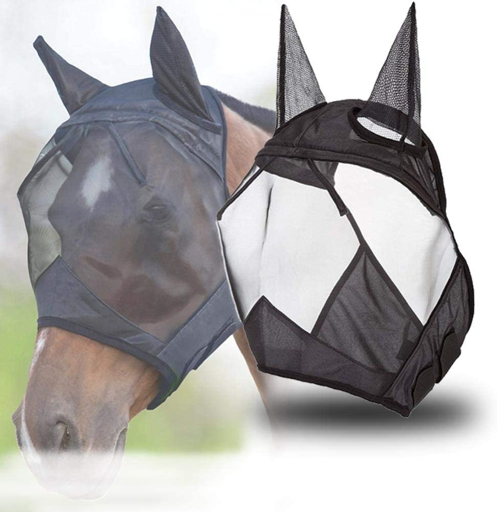 HeyBob Masque Anti-moustiques en Maille Anti-UV pour Animal Domestique Durable et Pratique