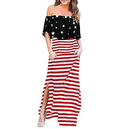 Vestido informal de verano para mujer, vestido con volantes ...