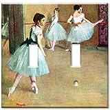 Double Gang Toggle Wall Plate - Degas: Dance Foyer