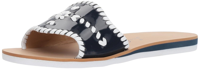 Jack Rogers Women's Sanibel Slide Flat Sandal B076ZT3XL4 5.5 B(M) US|Midnight/White