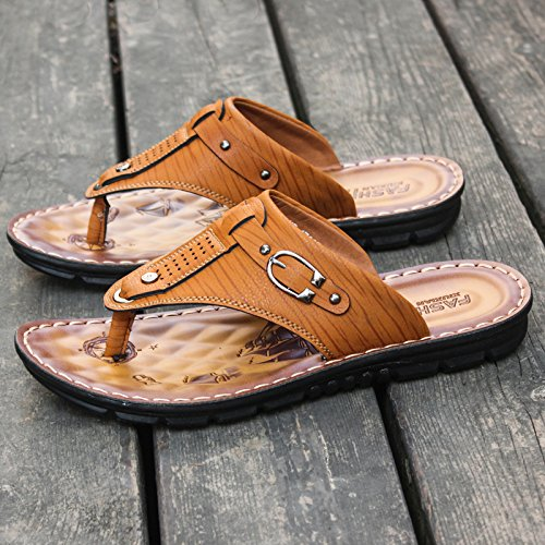 67885 Doble Zapatos Calzado Inferior Masculina Verano Toe Yellow sandals Zapatillas Blanda Antideslizante Casual Coreano De Finalidad Playa Moda Sandalias qgSfxnwnUA