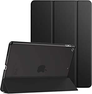 Dadanism Smart Case for New iPad 10.2 2019 (7th Generation), [Shock Absorption] Ultra Slim Lightweight Trifold Stand Cover with Hard Back Fit iPad 10.2 inch 2019 Release Tablet, Auto Sleep/Wake, Black