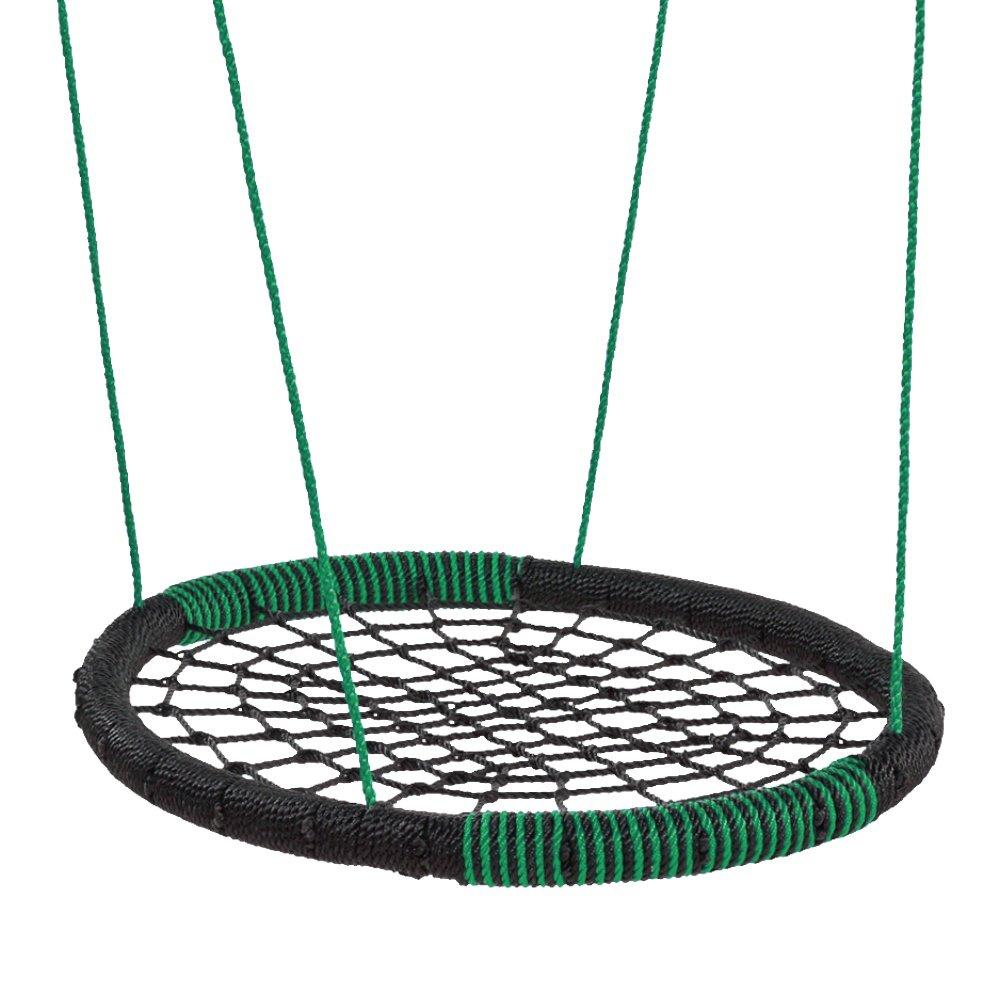 FATMOOSE Nestschaukel BuddyRider Mehrfachschaukel Kinderschaukel, oval, schwarz-grün, 108x84cm