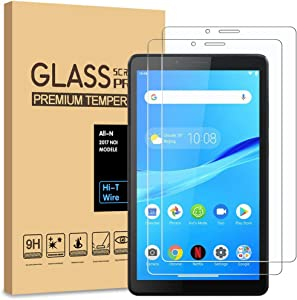 [2-Pack] PULEN for Lenovo Tab M7 Screen Protector,HD Clear Anti-Scratch No Bubble 9H Hardness Tempered Glass for Lenovo Tab M7 Tablet (7.0 inch)