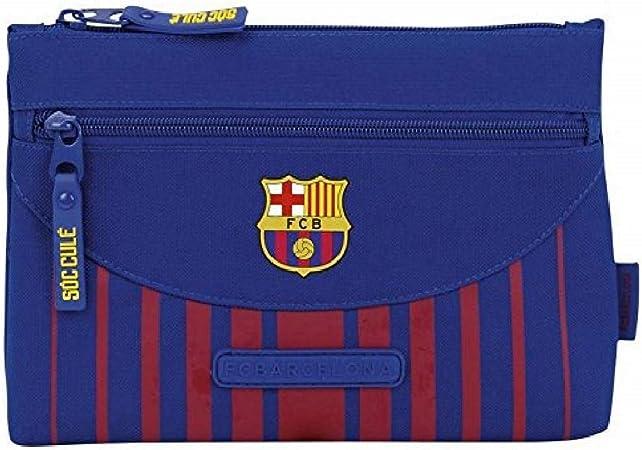 Safta Estuche Grande F.C. Barcelona 17/18 Oficial Doble cremallera 230x30x160mm: Amazon.es: Juguetes y juegos