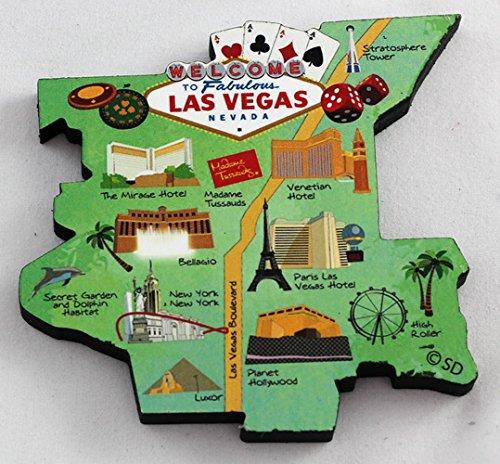 Las Vegas Nevada Decowood Jumbo Wood Fridge Magnet