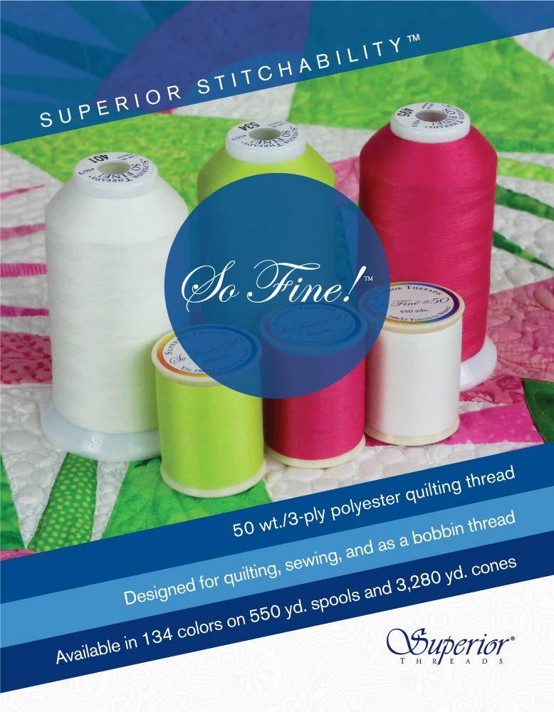Superior Threads 14202-723 So Fine 40W Port Phillip Bay Variegated Machine Quilt Thread
