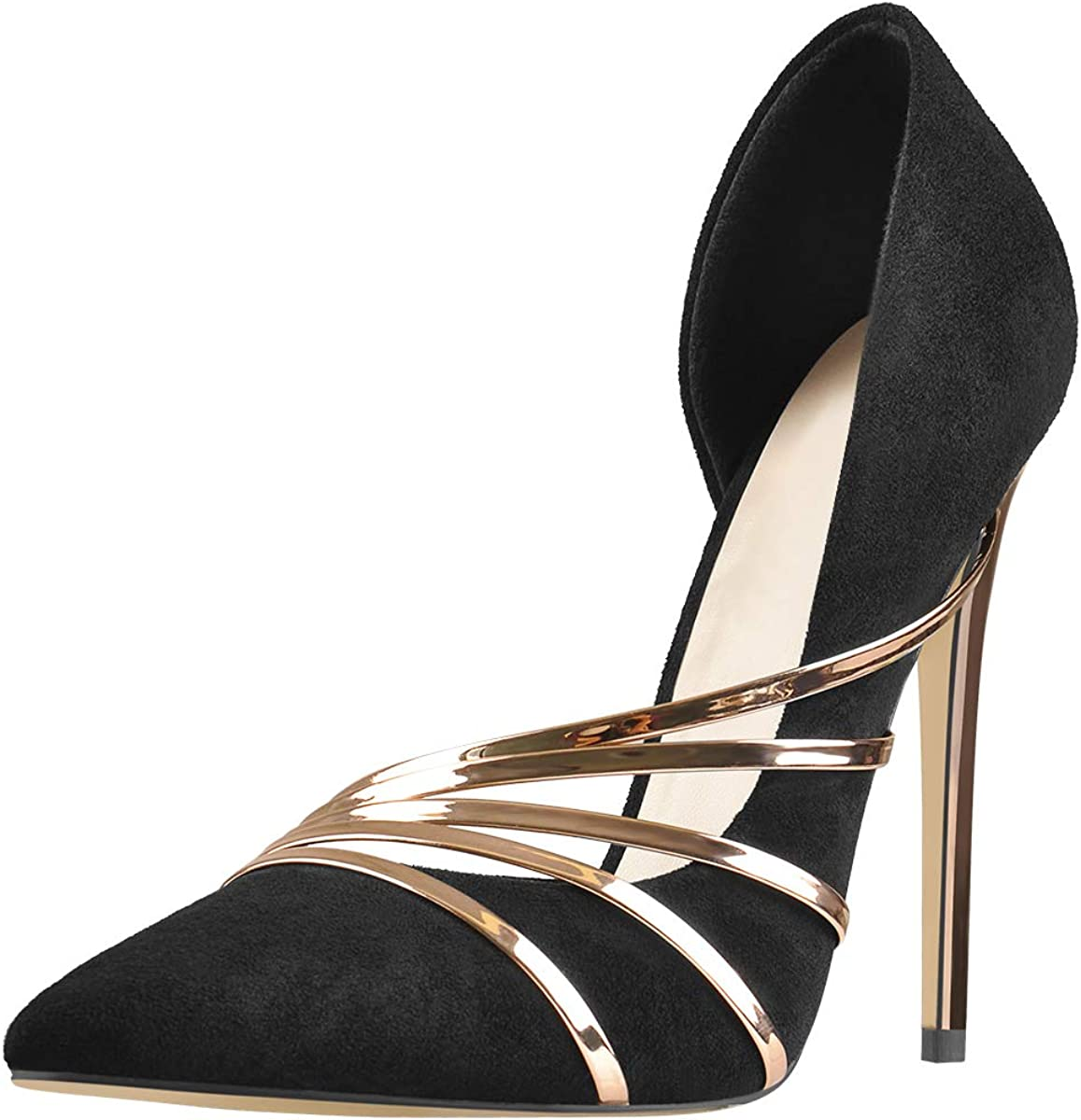 Richealnana Women's Pointed Toe Stiletto Heel Pumps Shoes