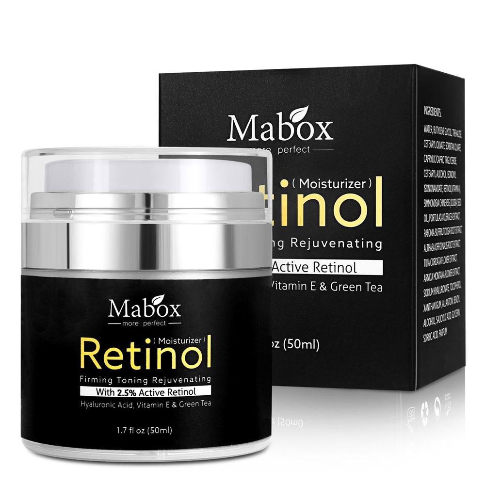Crema hidratante para rostro con retinol, de Pawaca, fórmula antienvejecimiento que reduce las arrugas y líneas finas,vitamina A, D, E, 50 ml, ...