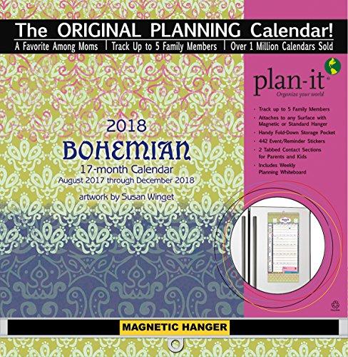 The LANG Companies WSBL Bohemian 2018 Plan-It Plus Academic Wall Calendar (18997009159)